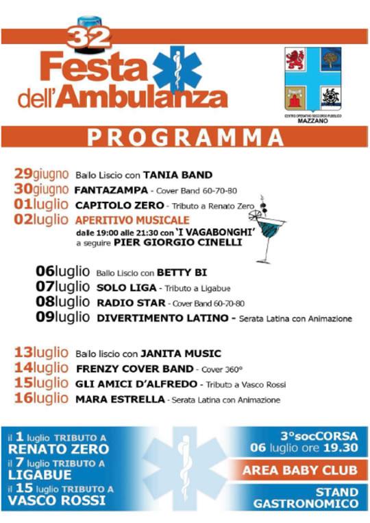 32 Festa dell'Ambulanza a Mazzano