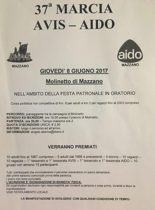 37 Marcia AVIS AIDO a Molinetto di Mazzano