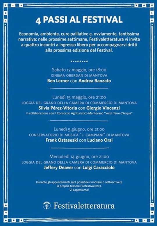 4 Passi al Festival di Mantova