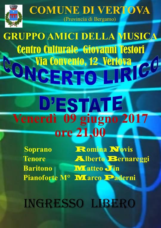 Concerto Lirico d'Estate a Vertova BG
