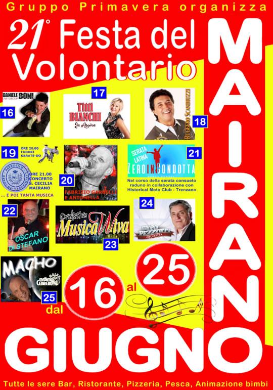 Festa del Volontario a Mairano