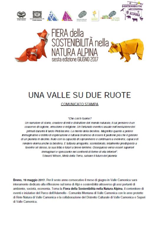 Fiera della Sostenibilità in Valle Camonica