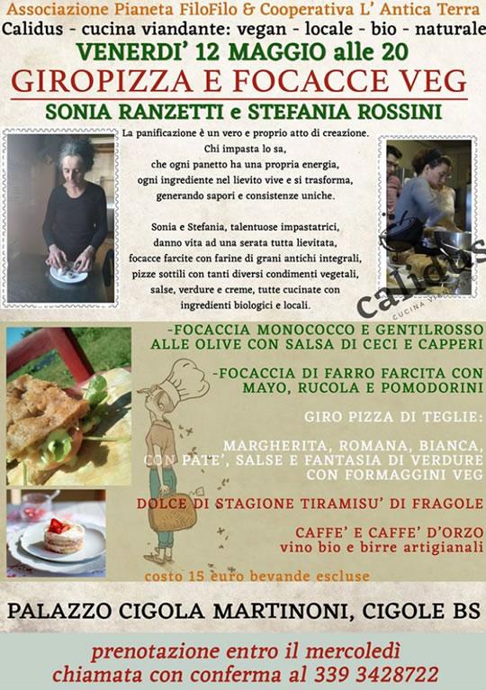 GiroPizza e Focacce  Veg a Cigole
