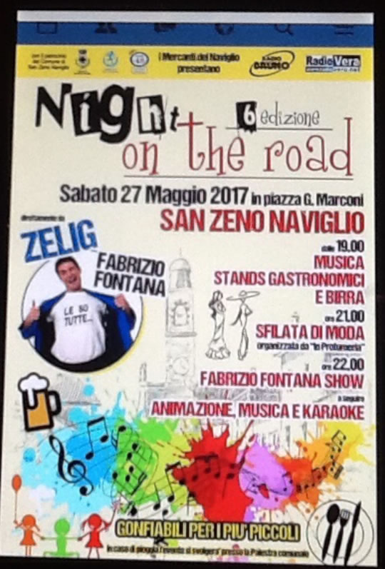 Night on the road a San Zeno