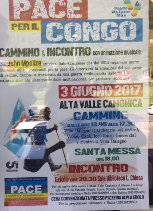 Pace per il Congo in Alta Valle Camonica