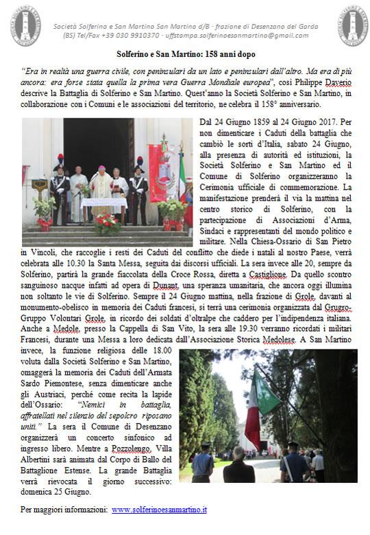 Solferino e San Martino 158 anni dopo
