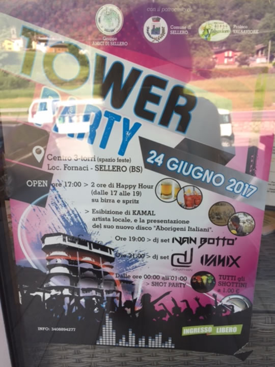 Tower Party a Sellero