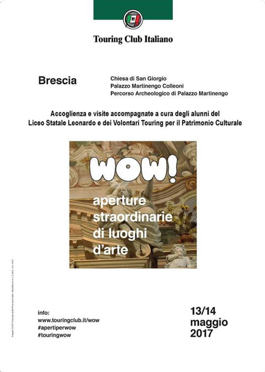 Wow Aperture Straordinarie di luoghi d'arte a Brescia