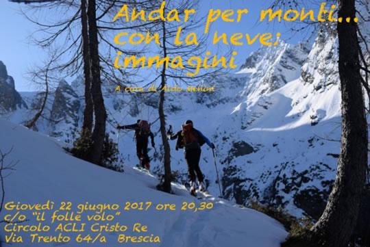 Andar Per Montii con la Neve Immagini a Brescia