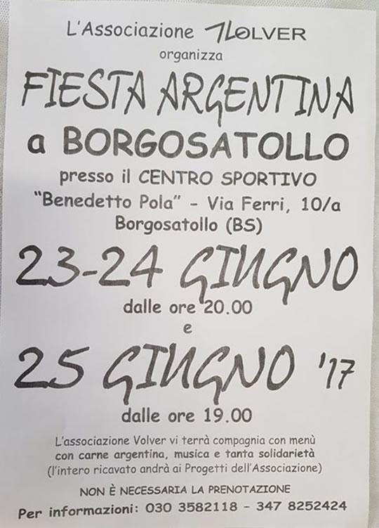 Festa Argentina a Borgosatollo