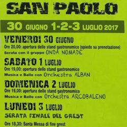 Festa Patronale a San Paolo