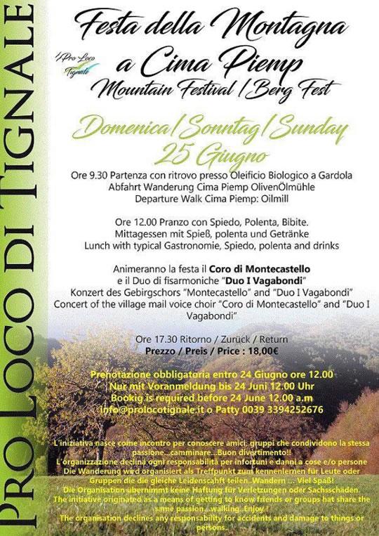 Festa della Montagna a Cima Piemp di Tignale