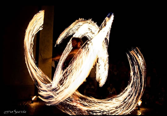 Fire Show a Sirmione