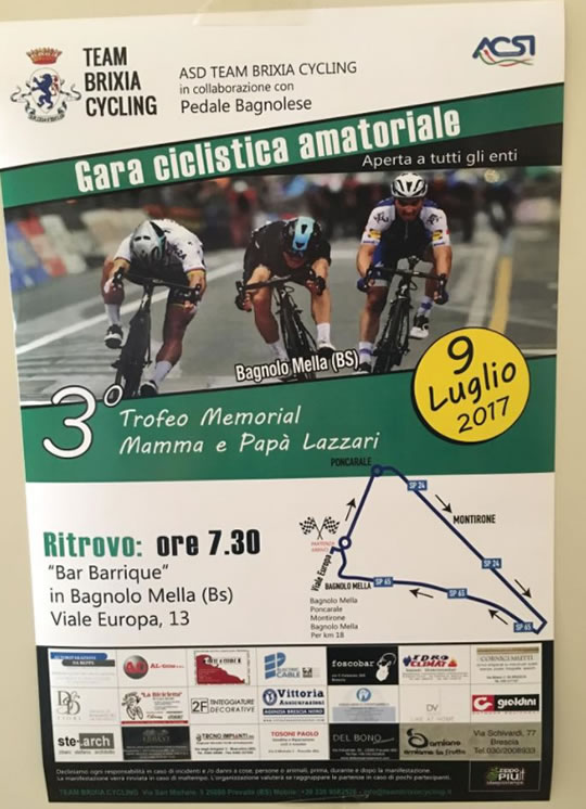 Gara Ciclistica Amatoriale a Bagnolo Mella