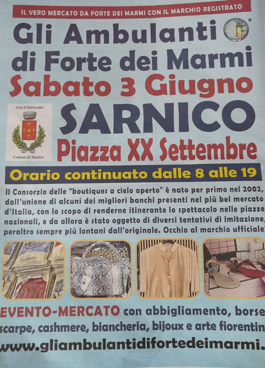 Gli Ambulanti di Forte dei Marmi a Sarnico