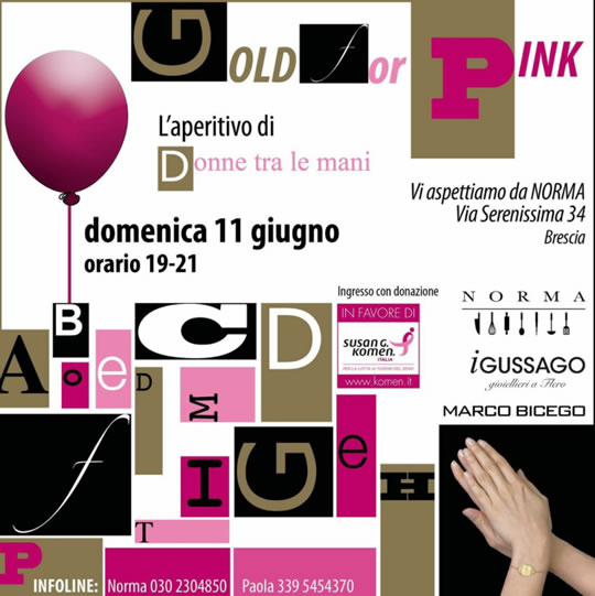 Gold or Pink a Brescia