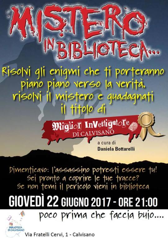Mistero in Biblioteca a Calvisano