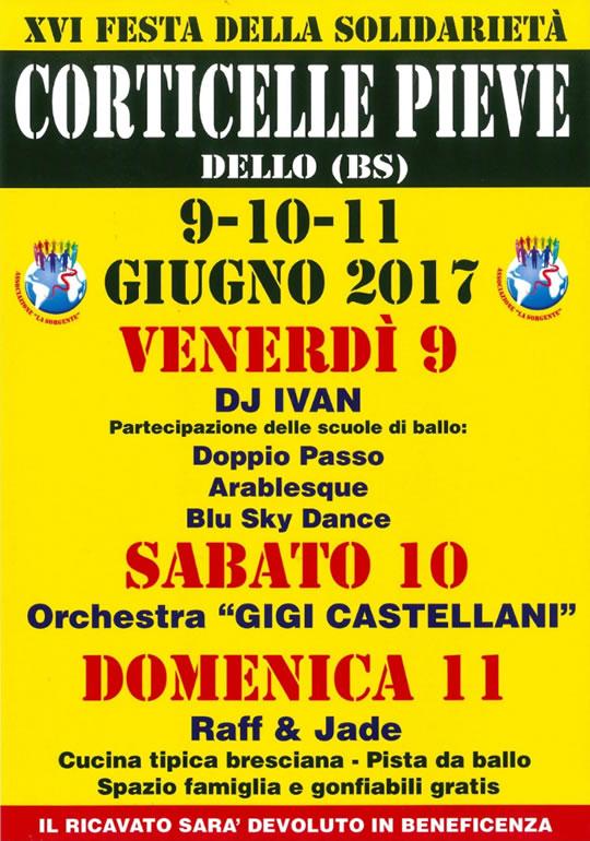 XVI Festa di Solidaietà a Corticelle Pieve di Dello