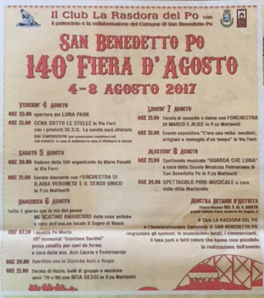 140 Fiera d'Agosto a San Benedetto Po