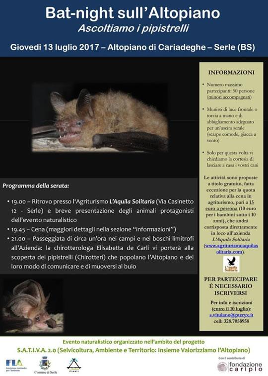 Bat-Night sull'Altopiano a Serle