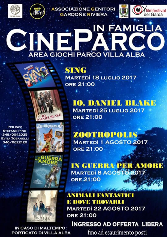 Cine Parco in Famiglia a Gardone Riviera