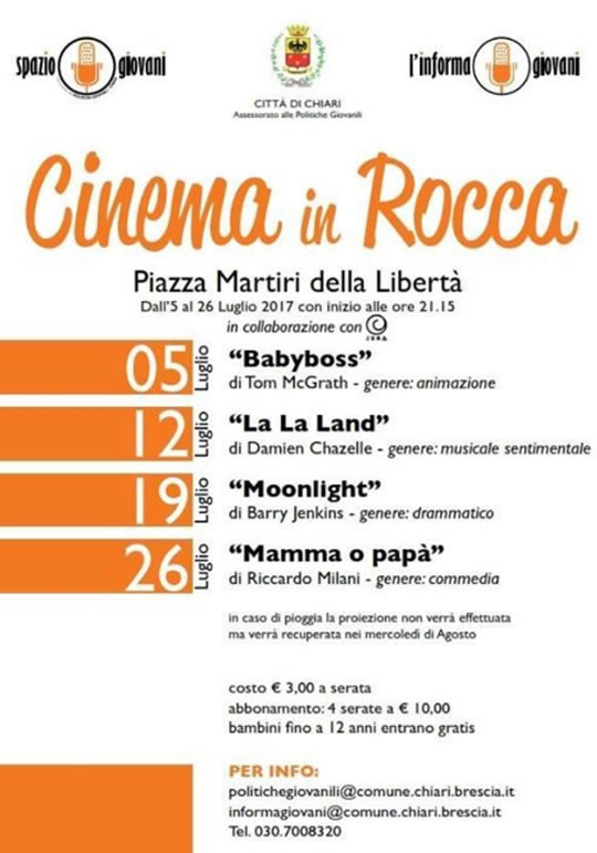Cinema in Rocca a Chiari
