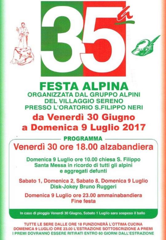 Festa Alpina Villaggio Sereno