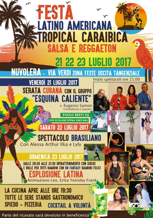 Festa Latino Americana Tropical Caraibica a Nuvolera