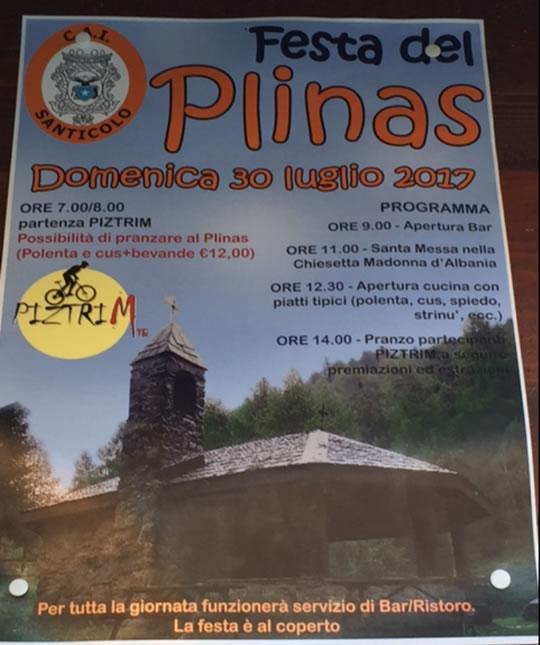 Festa del Plinas a Santicolo