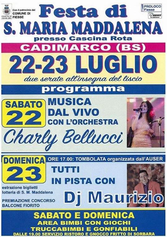 Festa di S. Maria Maddalena a Cadimarco