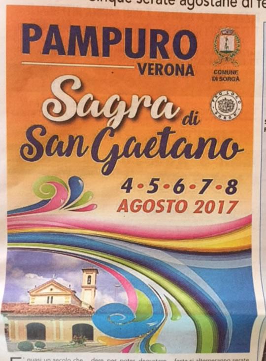 Sagra di San Gaetano a Pampuro VR