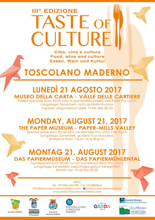 Taste of Culture a Toscolano Maderno