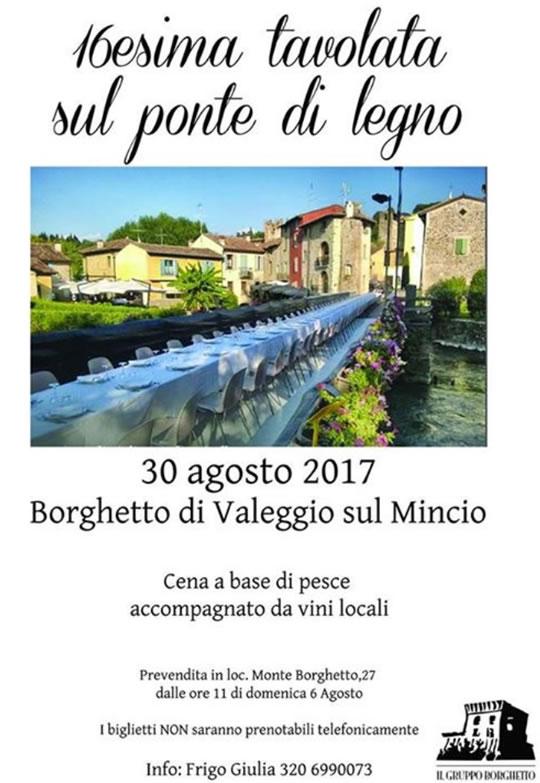 16 Tavolata sul Ponte a Borghetto di Valeggio sul Mincio