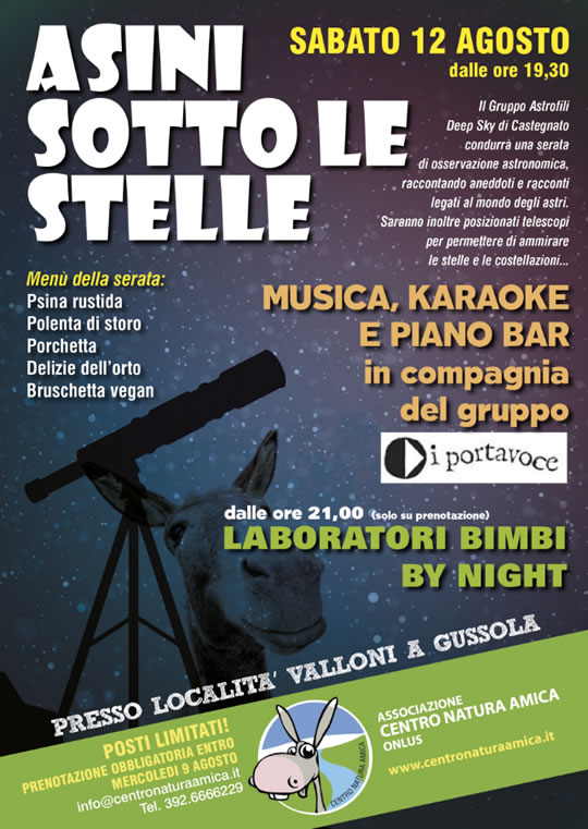 Asinii sotto le stelle a Gussola