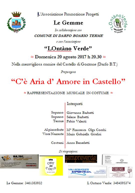 C'è Aria d'Amore in Castello a Darfo Boario Terme