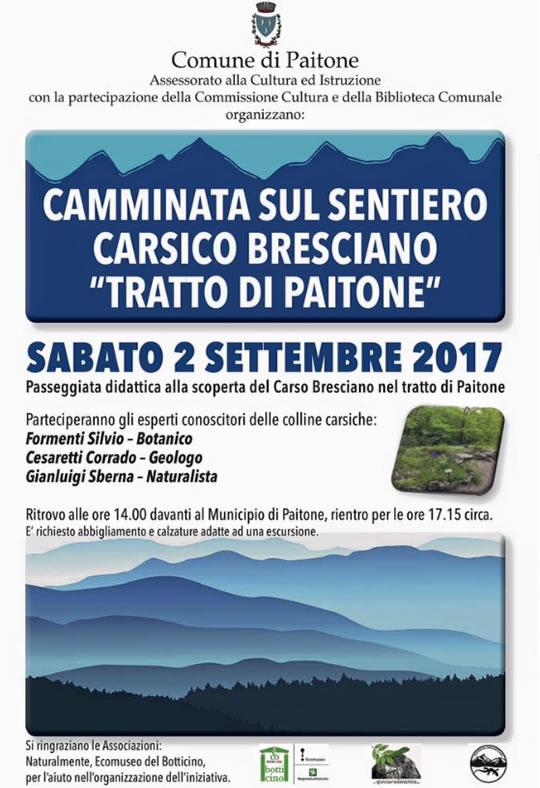 Camminata sul Sentiero Carsico Bresciano da Paitone