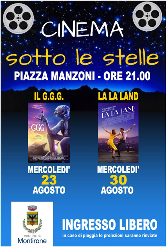 Cinema Sotto le Stelle a Montirone