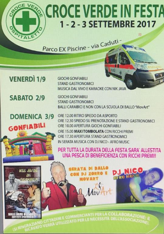 Croce Verde Onlus in Festa a Ospitaletto