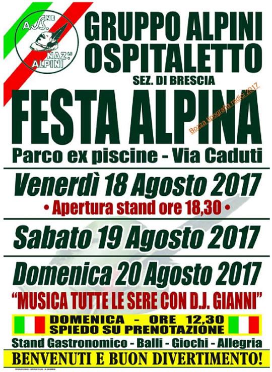 Festa Alpina a Ospitaletto