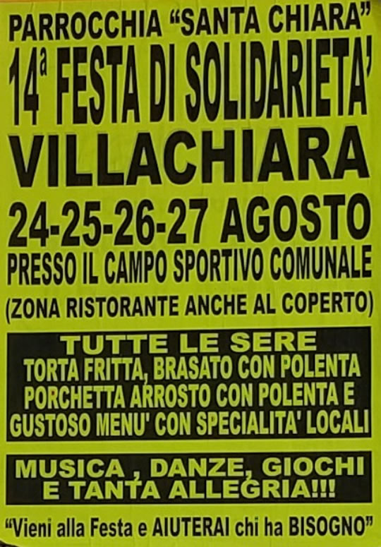 Festa di Solidarietà a Villachiara