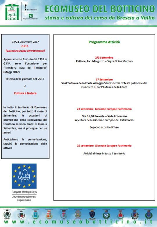 Giornate Europee del Patrimonio a Botticino