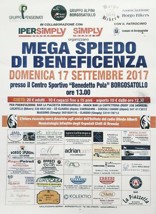 Mega Spiedo di Beneficenza a Borgosatollo