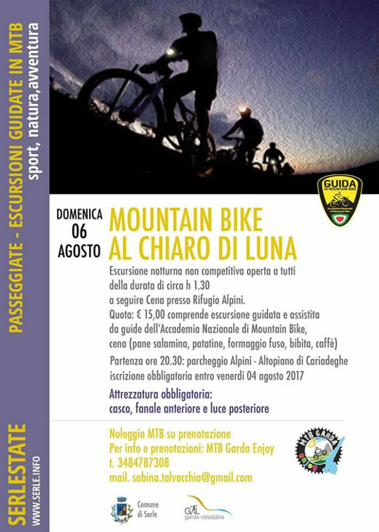 Mountain Bike al Chiaro di Luna a Serle