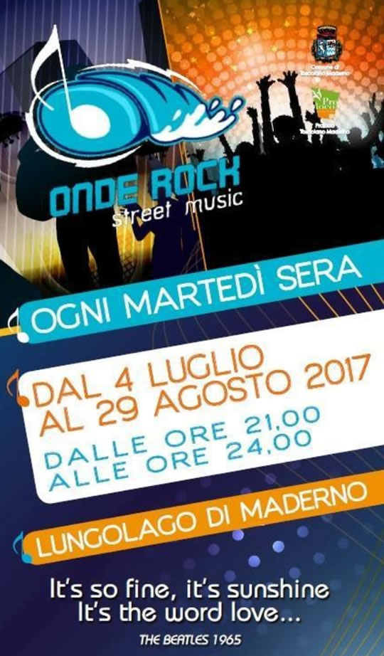Onde Rock Street Music a Maderno