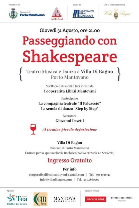Passeggiando con Shakespeare a Porto Mantovano