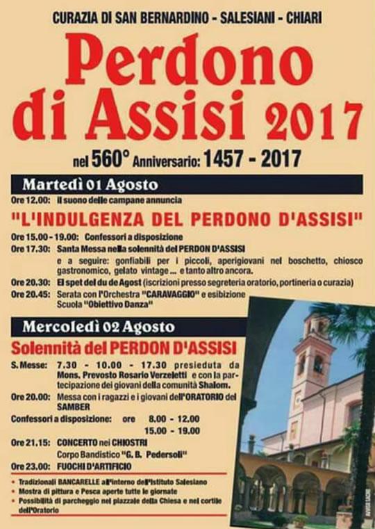 Perdono d'Assisi a Chiari