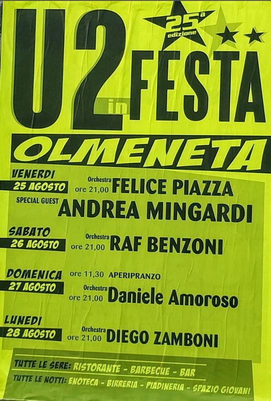 U2 a Olmeneta