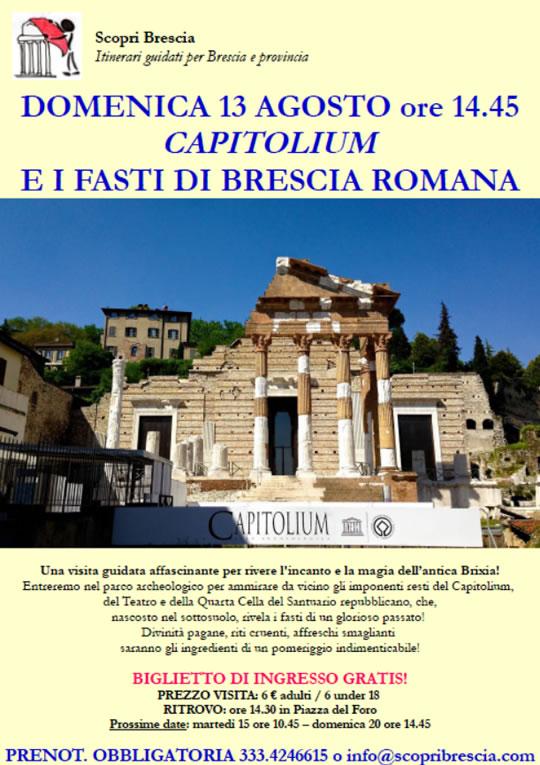 Visita al Capitolium e i Fasti di Brescia Romana