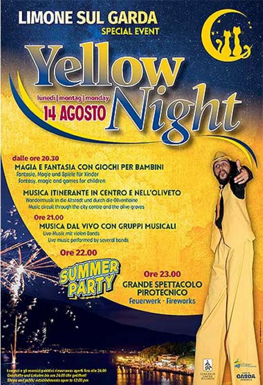 Yellow Night a Limone sul Garda