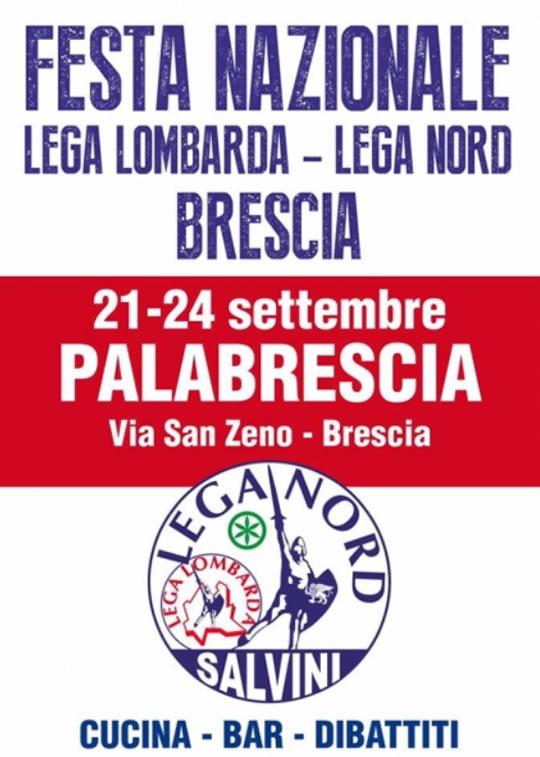 Festa Lega Nord a Brescia